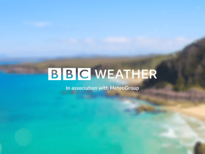 PICTURED: the new BBC Weather logo.