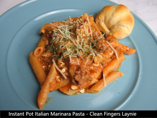 Instant Pot Italian Marinara Pasta - Clean Fingers Laynie - 10 Ingredients or Less