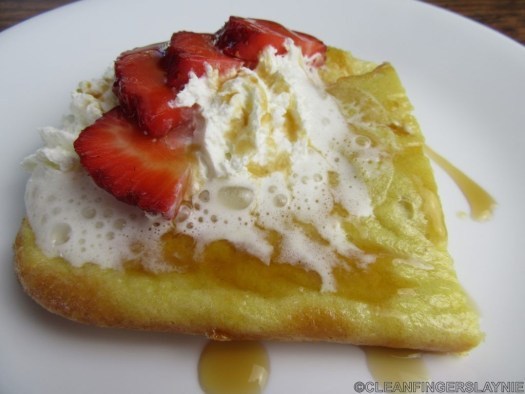 Low Carb German Pancakes - Side View