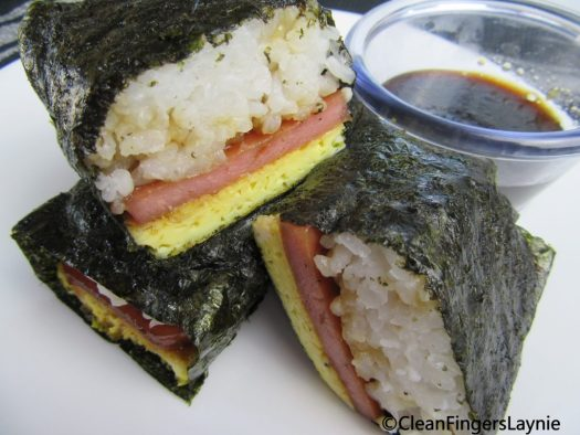 Spam Musubi Rolls With Sauce