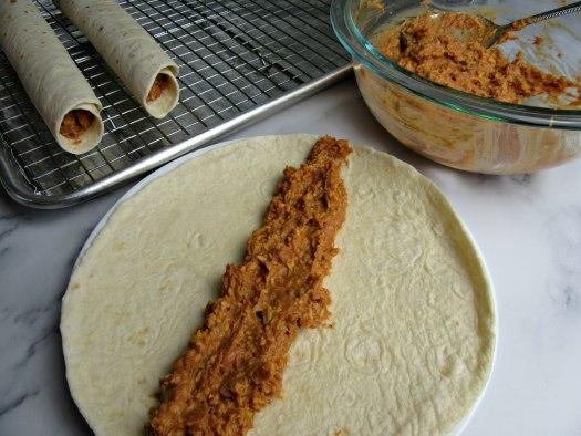 Crisp Bean Burrito Assembly