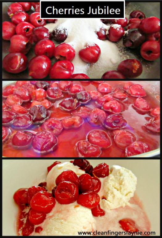 Cherries Jubilee Step by Step - Clean Fingers Laynie