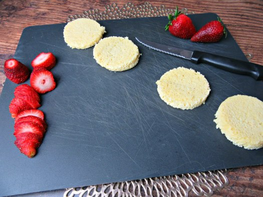 Microwavable Low-Carb Strawberry Shortcake Ingredients
