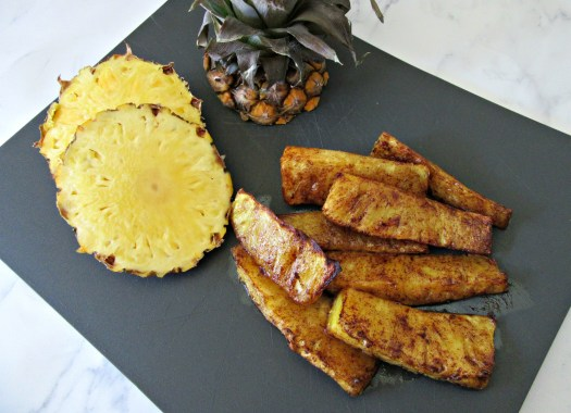 Air Fryer Grilled Pineapple Top View