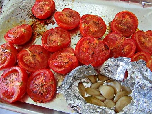 Roasted Tomatoes and Garlic for Homemade Marinara Sauce