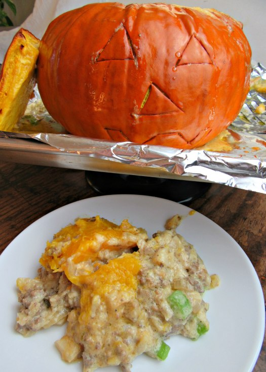 Dinner In a Pumpkin Baked (Pumpkin Casserole)