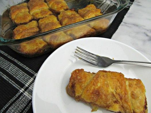 Pumpkin Cream Cheese Dumplings in Pan and on Plate