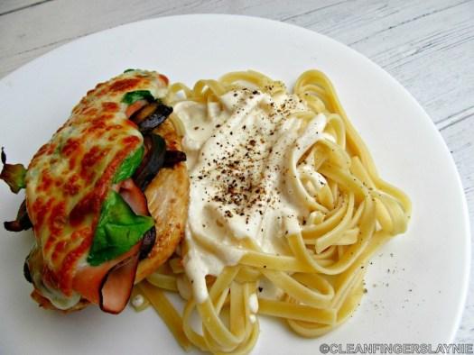 Copycat Johnny Carino's Chicken Milano on White Plate