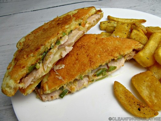 Parmesan-Crusted Sourdough Turkey Sandwich