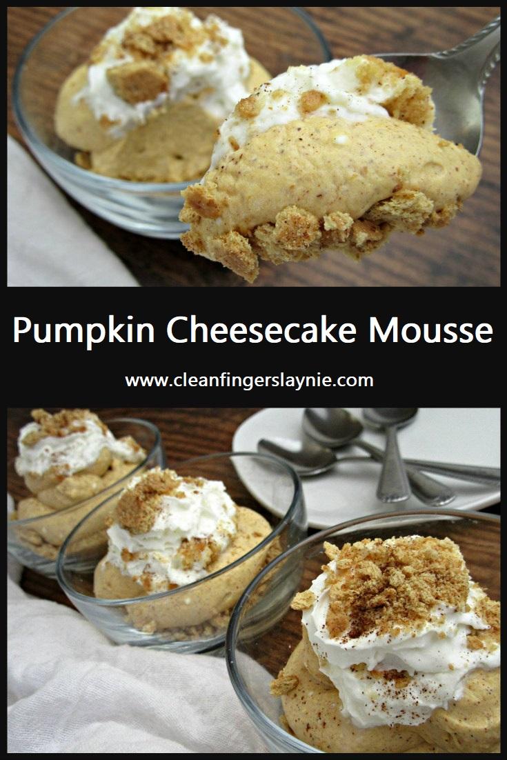 Pumpkin Cheesecake Mousse - Clean Fingers Laynie