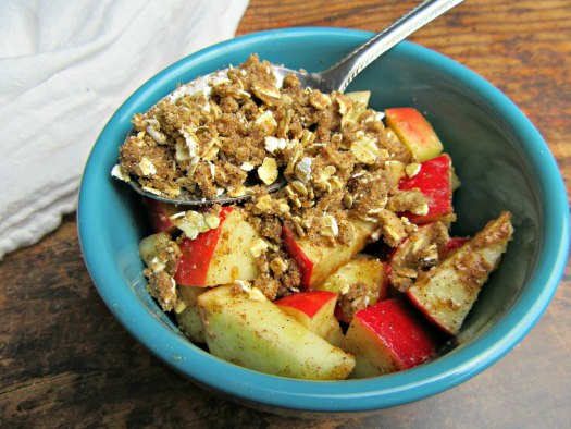 Air Fryer Apple Crisp Unbaked