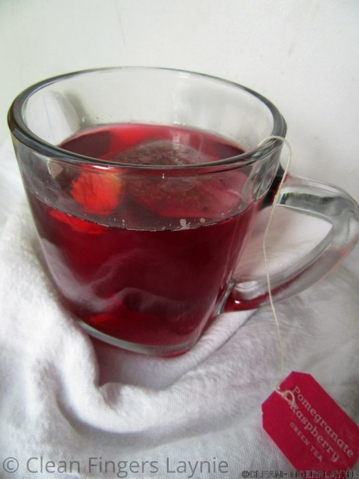 Cranberry Ginger Hibiscus Tea - Side View