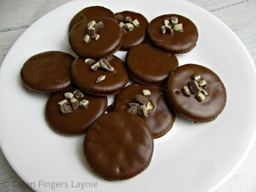Easy Copycat Thin Mint Girl Scout Cookies on White Plate