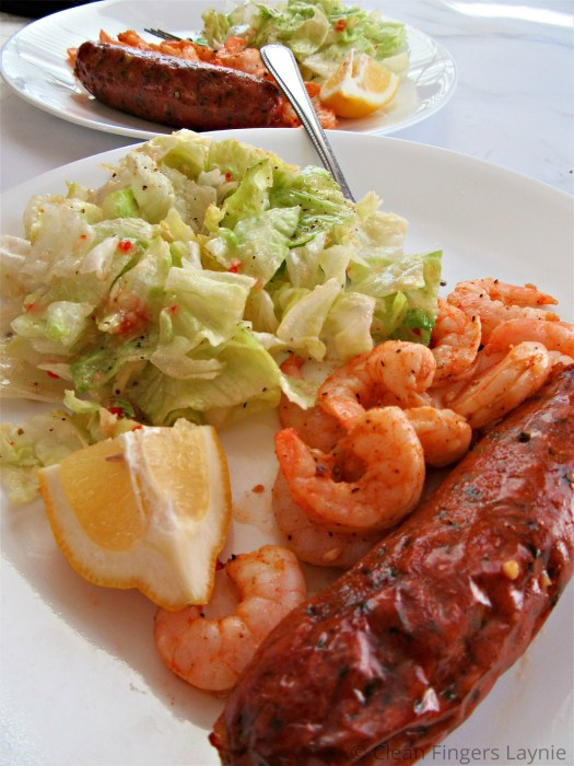 Low-Carb Spicy Shrimp and Chicken Sausage