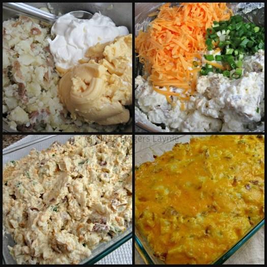 Cheesy Potato Casserole Process Shot