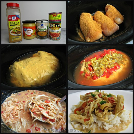 Slow Cooker Queso Chicken Process Shot