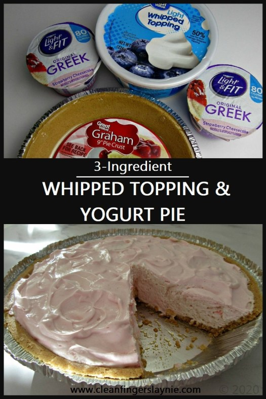 Whipped Topping and Yogurt Pie Ingredients