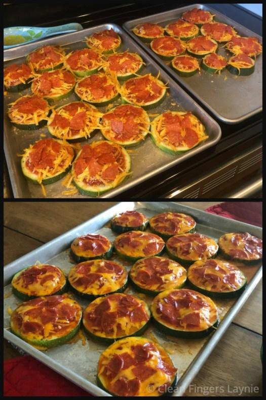 Zucchini Pepperoni Pizza Bites