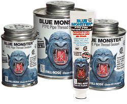 Blue Monster thread seal with PTFE