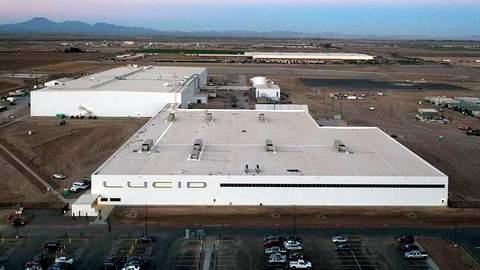 Lucid Motors Casa Grande assembly plant