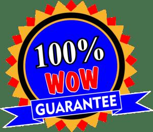 100% Wow Guarantee