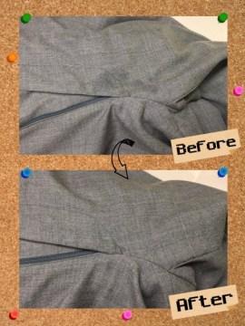 メンズ パンツ ズボン 食べこぼしのしみ by 下町、東京都江東区亀戸の会員制クリーニングベレーナ