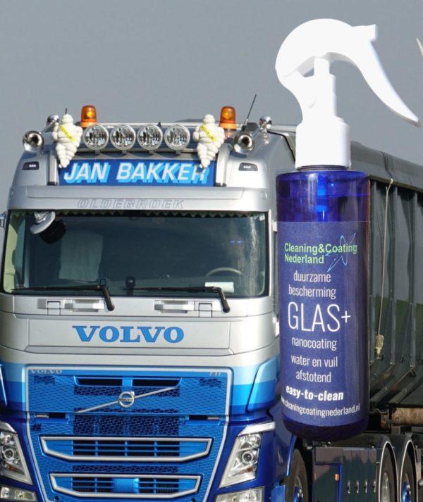 nanocoating glas+ voor de vrachtauto voorruit