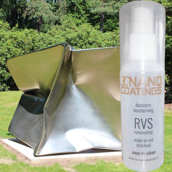 nanocoating RVS met RVS sculptuur