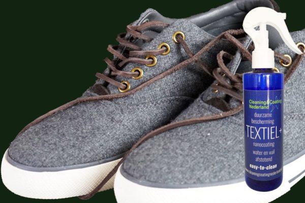 nanocoating textiel+ en grijze sneaker schoenen