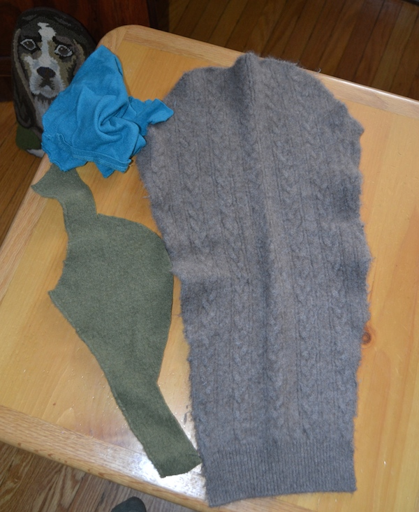 "Felted Arm from Cashmere Sweater & Some Other ""Bits"""