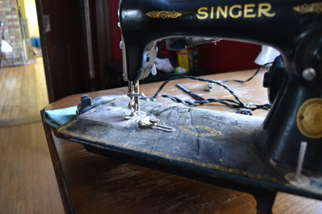 Poor old neglected, dusty, Singer