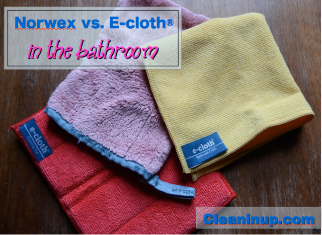 norwex and ecloth bathroom mitt cloth review