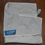 ivory e-cloth washed with brown pet towel