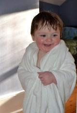 Kids love the e-body luxury bath towel
