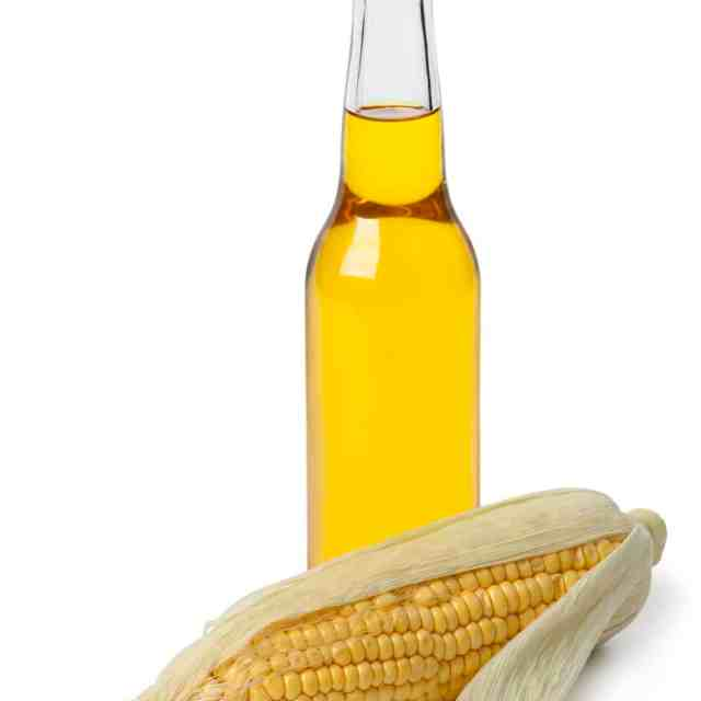 Corn oil in a bottle