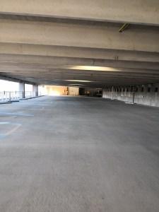Parking garage final construction cleaning in lexington, SC