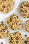 overhead close-up view of breakfast cookies