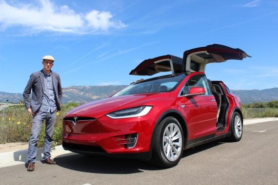 Tesla Model X red 2
