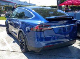 Tesla Fremont factory parking Model X P90D