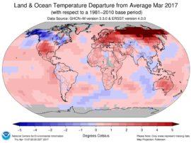 March temperature record