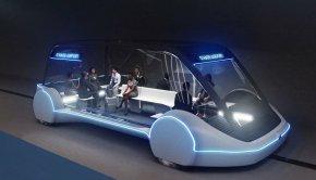 Tesla autonomous shuttle