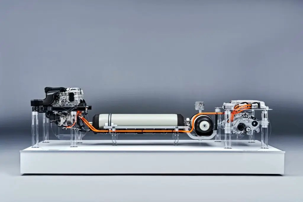 BMW hydrogen fuel cell powertrain