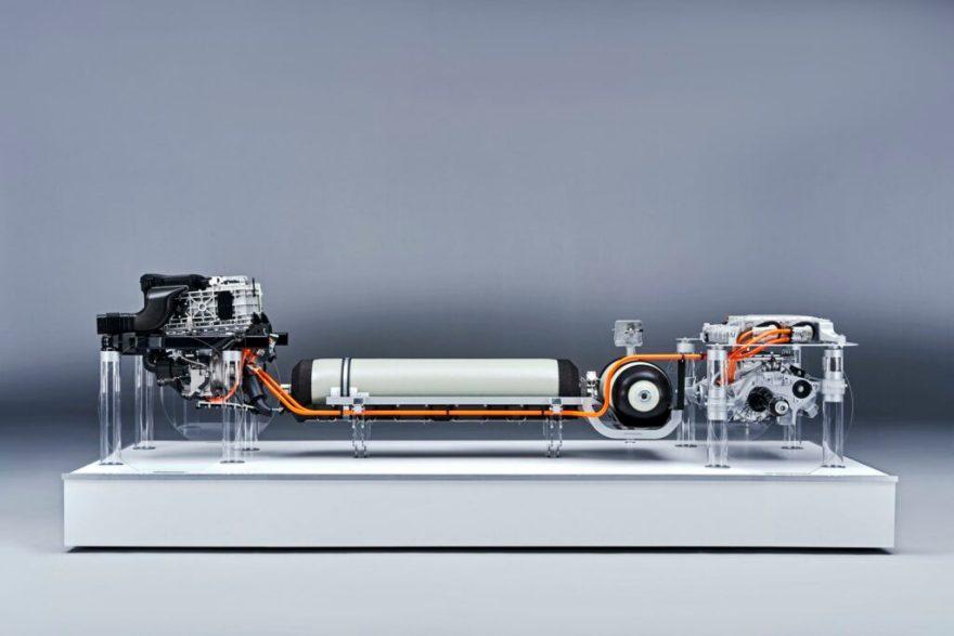 BMW hydrogen fuel cell powertrain