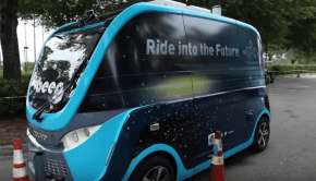 autonomous shuttle at Mayo Clinic