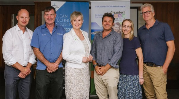 Cleantech Industries Sunshine Coast Management Committee Peter Kelly - ARCPanel, Darren Walters - Ecotekk, Megyn Carpenter - Green Profits, Will Waters - Planet Ark Power, Jackie Dixon, Mark Leckenby - ENOPTE