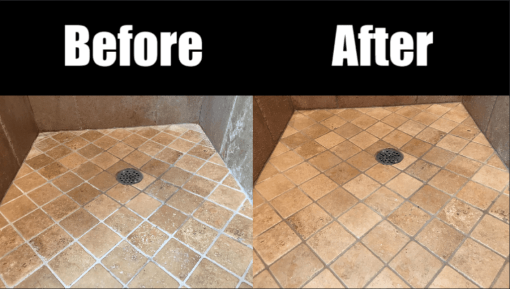 how to clean travertine showers