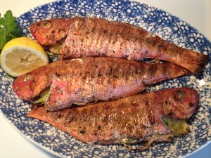 Broiled whole fish is low in fat and an excellent source of protein. It can be enjoyed as is, or filleted and used in fish tacos.