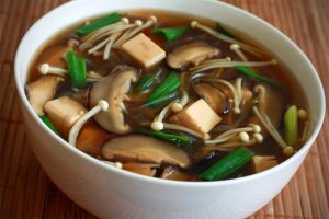 Try new recipes that incorporate mushrooms and other superfoods. A Japanese Miso Soup is a great vehicle for fresh or dried Shiitake mushrooms, fresh enoki mushrooms, tofu, and our featured superfoods ginger and sea weed.