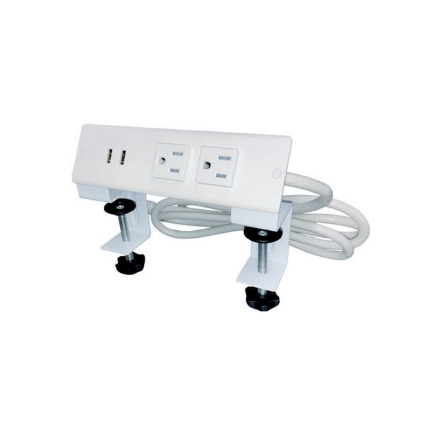 affordable desk top power units with USB and 6 ft. cord for home offices
