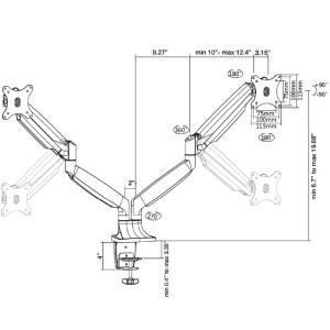 Element Echo Series Monitor Arm, Dual